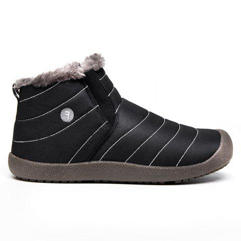 New Men'S Winter Leisure Shoes and Cashmere Length of Tube - BLACK B 45