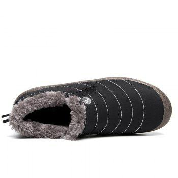 New Men'S Winter Leisure Shoes and Cashmere Length of Tube - BLACK 37
