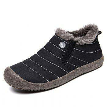 New Men'S Winter Leisure Shoes and Cashmere Length of Tube - BLACK 36