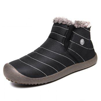 New Men'S Winter Leisure Shoes and Cashmere Length of Tube - BLACK B 48