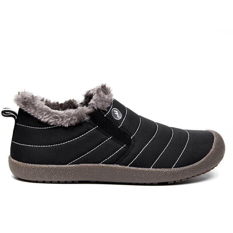 New Men'S Winter Leisure Shoes and Cashmere Length of Tube - BLACK 39