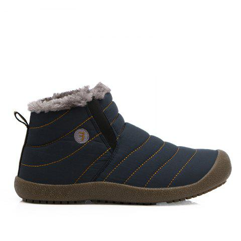 New Men'S Winter Plush Lovers' Casual Cotton Shoes - BLUE 40