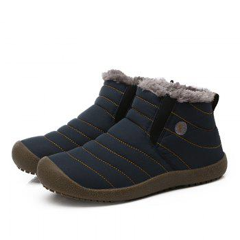 New Men'S Winter Plush Lovers' Casual Cotton Shoes - BLUE 42