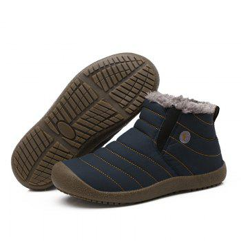 New Men'S Winter Plush Lovers' Casual Cotton Shoes - BLUE 37