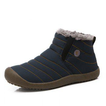 New Men'S Winter Plush Lovers' Casual Cotton Shoes - BLUE 38