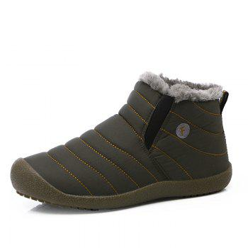 New Men'S Winter Plush Lovers' Casual Cotton Shoes - LIGHT BROWN 45