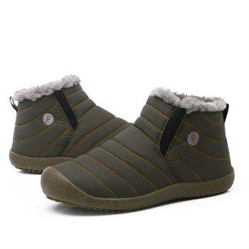 New Men'S Winter Plush Lovers' Casual Cotton Shoes - LIGHT BROWN 43