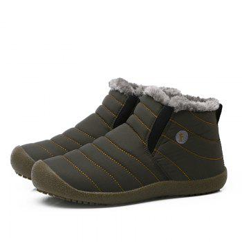 New Men'S Winter Plush Lovers' Casual Cotton Shoes - LIGHT BROWN 41