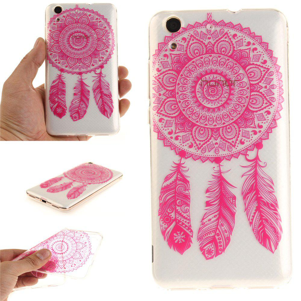 Housse de protection pour Huawei Honor5A Y6II Rose Bell Clair Clair IMD TPU Téléphone Cas Mobile Mobile - Rouge Rose