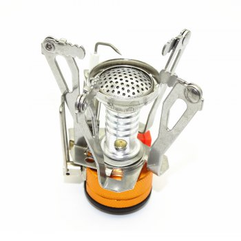 Outdoor Windproof Mini Furnace Head - SILVER/ORANGE
