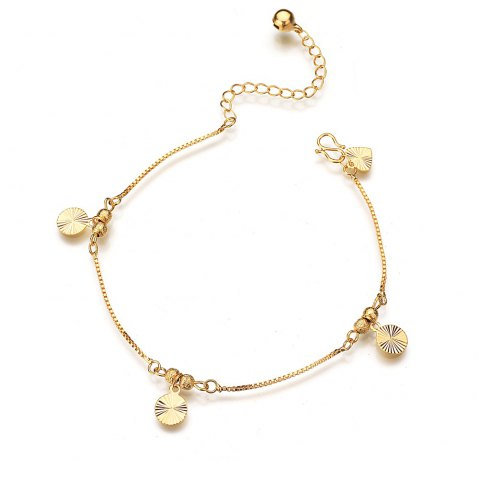 18K Gold Plated Star Sun Flower Bracelet Anklet - GOLD