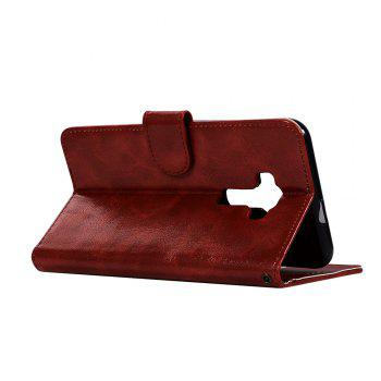 Retro Fashion Flip Leather Case PU Wallet Cover Cases For Asus Zenfone 3 ZE552KL 5.5 inch Phone Bag with Stand - WINE RED