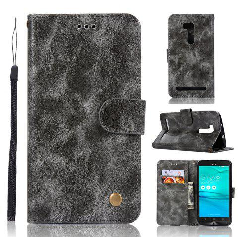 Vintage Fashion Flip Leather Case PU Wallet Cover Case For ASUS ZenFone Go ZB551KL / Go TV G550KL 5.5 Phone Bag with Stand - GRAY