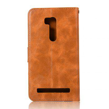 Retro Fashion Flip Leather Case PU Wallet Cover Case For ASUS ZenFone Go ZB551KL / Go TV G550KL 5.5 Phone Bag with Stand - CITRUS