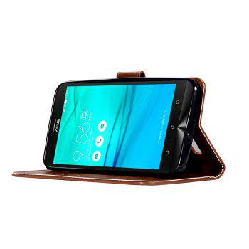 Retro Fashion Flip Leather Case PU Wallet Cover Case For ASUS ZenFone Go ZB551KL / Go TV G550KL 5.5 Phone Bag with Stand - BROWN