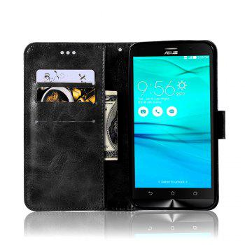 Retro Fashion Flip Leather Case PU Wallet Cover Case For ASUS ZenFone Go ZB551KL / Go TV G550KL 5.5 Phone Bag with Stand - BLACK