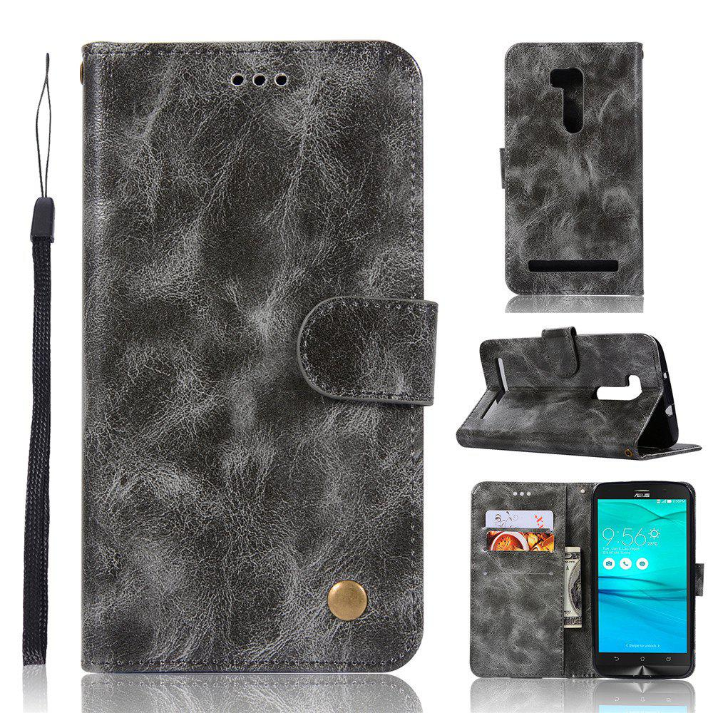 Retro Fashion Flip Leather Case PU Wallet Cover Case For ASUS ZenFone Go ZB551KL / Go TV G550KL 5.5 Phone Bag with Stand - GRAY