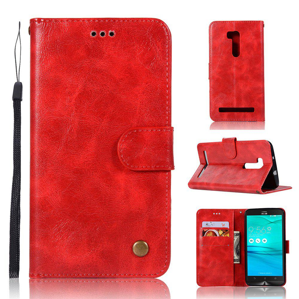 Retro Fashion Flip Leather Case PU Wallet Cover Case For ASUS ZenFone Go ZB551KL / Go TV G550KL 5.5 Phone Bag with Stand - RED