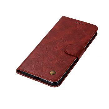 Luxurious Retro Fashion Flip Leather Case PU Wallet Cover Cases For Google Pixel 2 XL Smart Cover Phone Bag with Stand - WINE RED