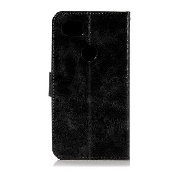Luxurious Retro Fashion Flip Leather Case PU Wallet Cover Cases For Google Pixel 2 XL Smart Cover Phone Bag with Stand - BLACK