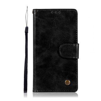 Retro Flip Leather Case PU Wallet Cover Cases For Alcatel A5 LED / OT5085 / 5085Y / 5085D 5.2 Inch Phone Bag with Stand - BLACK