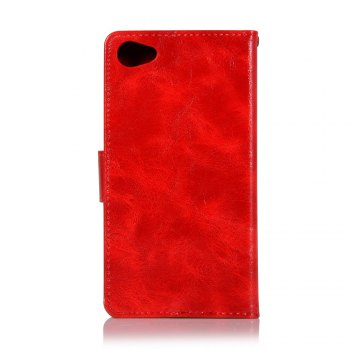 Retro Flip Leather Case PU Wallet Cover Cases For Alcatel A5 LED / OT5085 / 5085Y / 5085D 5.2 Inch Phone Bag with Stand - RED