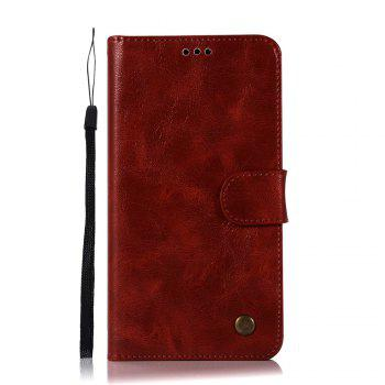 Retro Flip Leather Case PU Wallet Cover Cases For Alcatel Pop 4S Case 5095 / 5095K / 5095Y 5.5 Inch Phone Bag with Stand - WINE RED