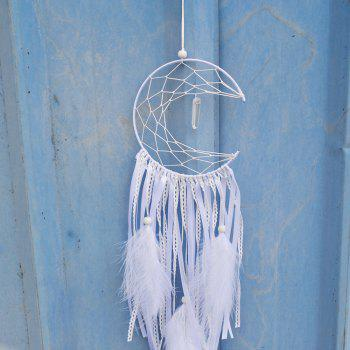 White  Crescent Dreamcatcher Indian Handmade Dreamcatchers Wind Chimes & Home Hanging Decoration & Wedding Decoration - WHITE
