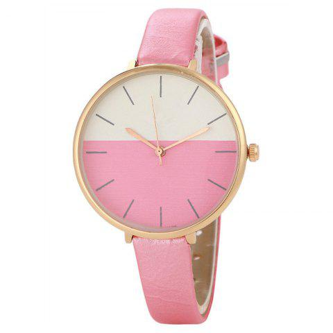 REEBONZ Fashion Women Simple Style Quartz Watch - PINK