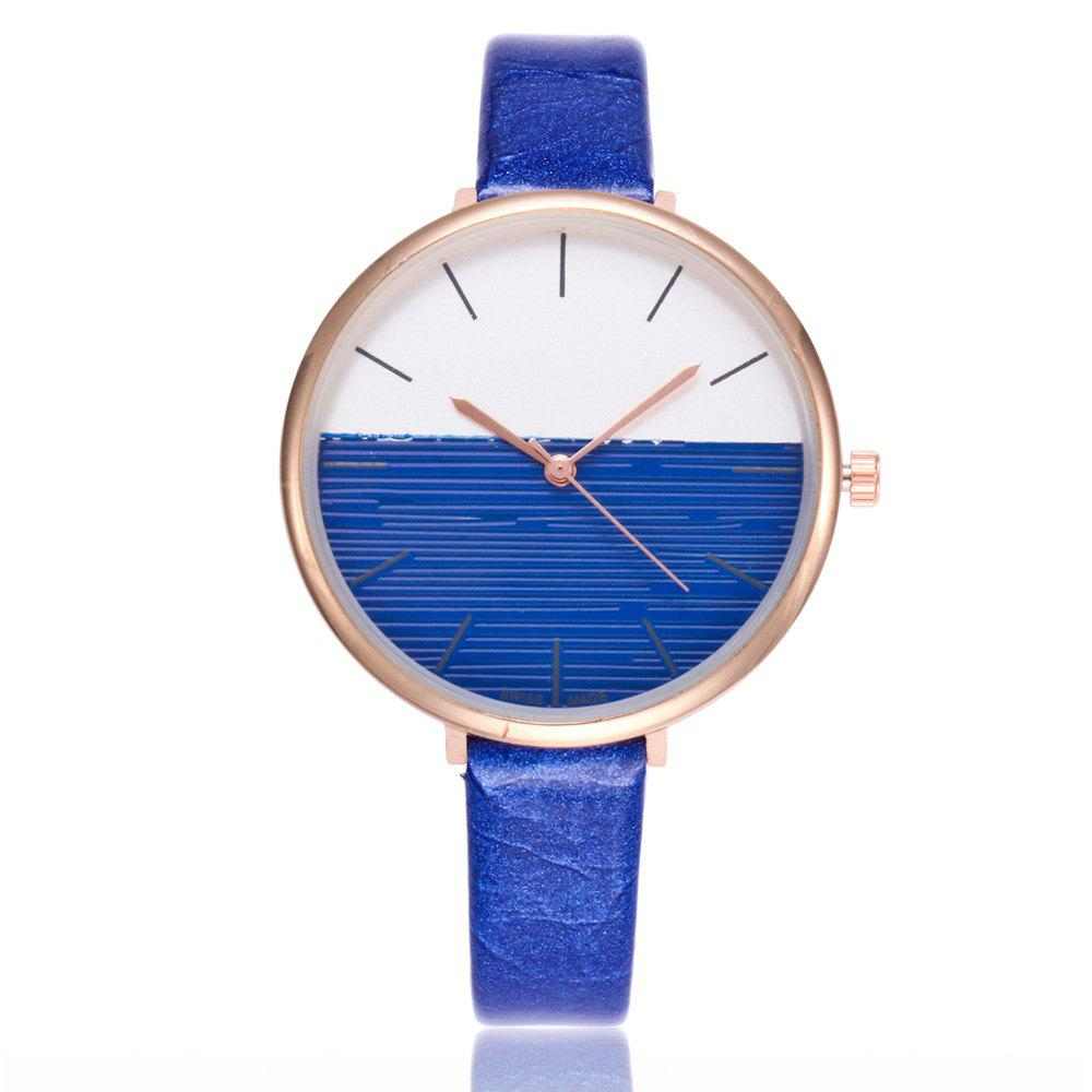 REEBONZ Fashion Women Simple Style Quartz Watch - BLUE