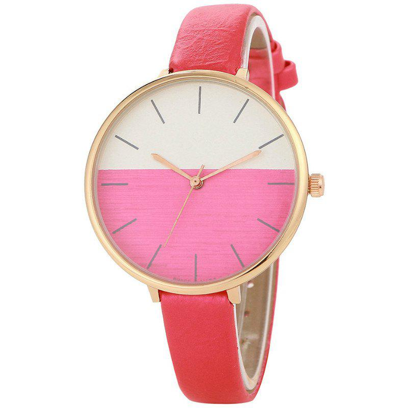 REEBONZ Fashion Women Simple Style Quartz Watch - ROSE RED