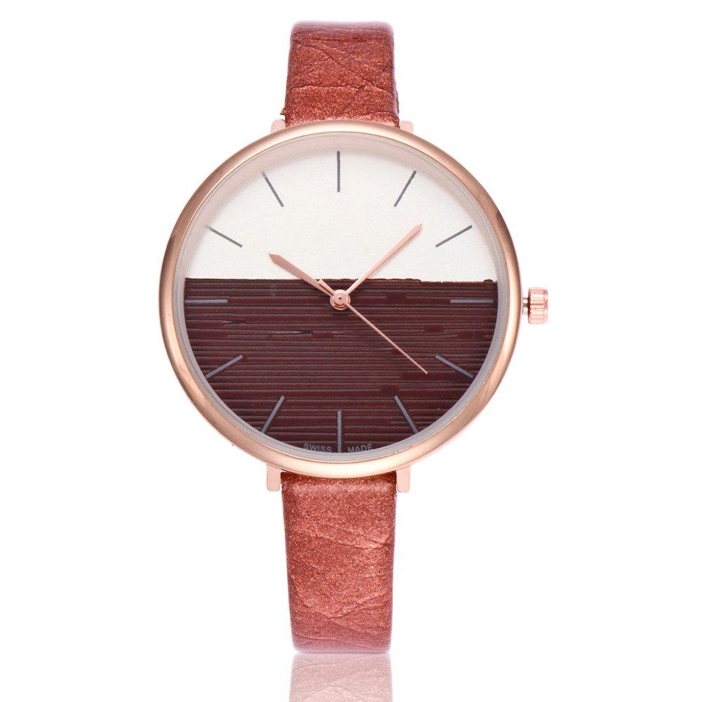 REEBONZ Fashion Women Simple Style Quartz Watch - BROWN