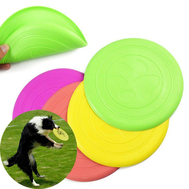 Dog Supplies Silicone Pet Frisbee Soft light Training Pet Dog Toys pet attire sparkles dog collar 8 12in pink