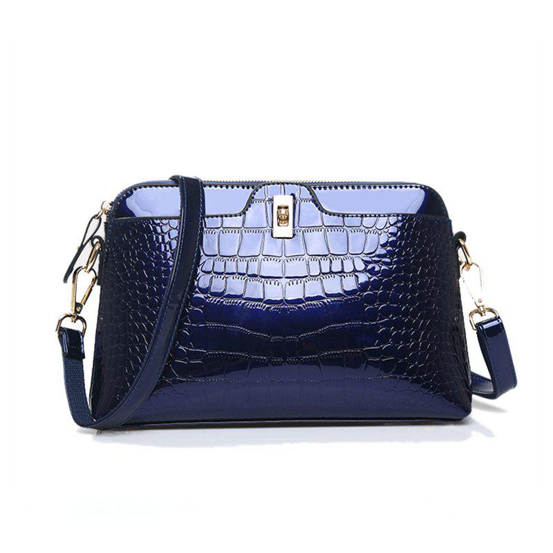 Tide Fashion Casual Women Shoulder Messenger Lady Leather Bag - BLUE