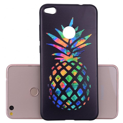 For Huawei P8Lite2017 Multicolored Pineapple TPU Anti-drop Phone Protection Shell - BLACK
