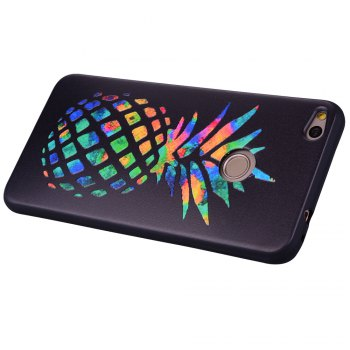 For Huawei P9Lite2017 Multicolored Pineapple TPU Anti-drop Phone Protection Shell - BLACK