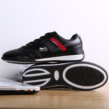 Traditional Casual Middle-Aged Men'S Shoes - BLACK 44