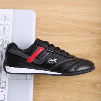 Traditional Casual Middle-Aged Men'S Shoes - BLACK 42