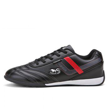 Traditional Casual Middle-Aged Men'S Shoes - BLACK 39