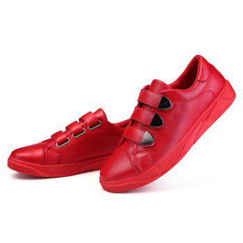 New Low To Help Buttoning Sets of Men'S Shoes - RED 44