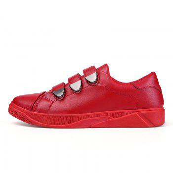 New Low To Help Buttoning Sets of Men'S Shoes - RED 42