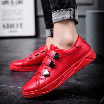 New Low To Help Buttoning Sets of Men'S Shoes - RED 40