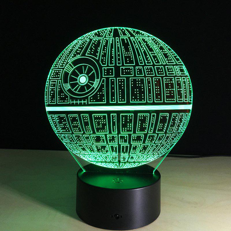 YEDUO Death Star 3D illusion Night Light LED 7 Color Change Desk Table Lamp Lighting Decor bear silicon color change rechargeable led night light