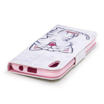 Cover Case for Wiko Lenny 4 Painted PU Phone Case - WHITE / BLACK / PINK