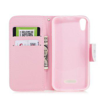 Cover Case for Wiko Lenny 4 Painted PU Phone Case - PINK