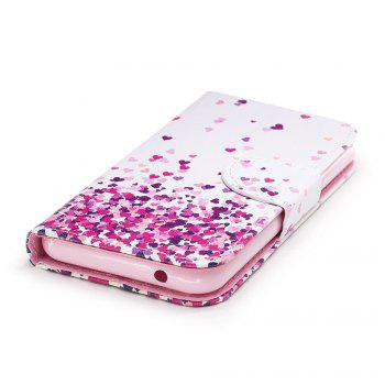 Cover Case for Wiko Lenny 4 Painted PU Phone Case - WHITE / PINK