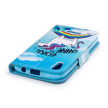Cover Case for Wiko Lenny 4 Painted PU Phone Case - BLUE