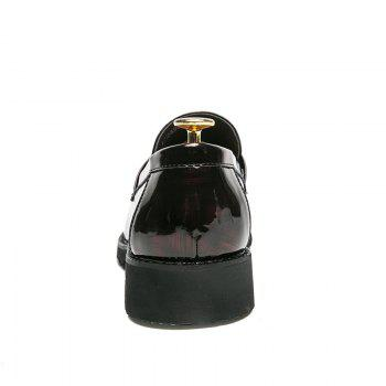 Men Shining Upper Material Leisure Leather Shoes - BLACK 42