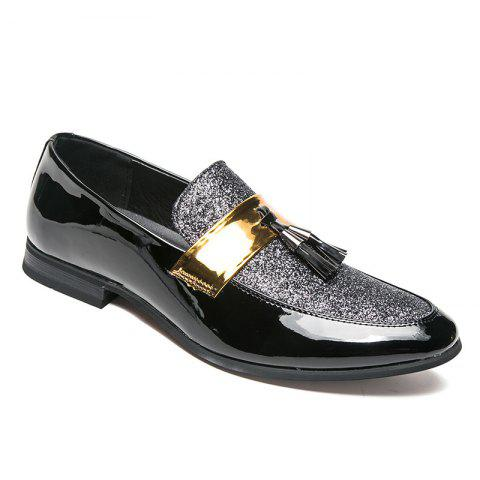 Korean Style Men Fashion Leather Shoes - SILVER 44