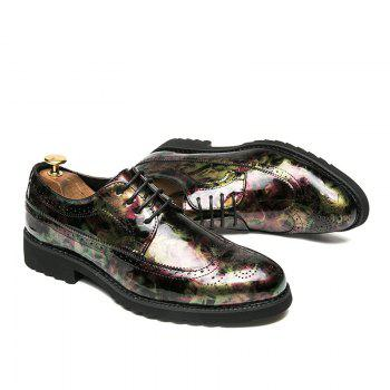 Hommes Camouflage Loisirs Mode Chaussures en cuir - GREEN 40